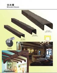 Decorative beams and boards from polyurethane.