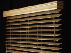 Wooden and bamboo blinds
