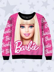 Реглан детский для девочки (свитшот, свитер, водолазка, джемпер) Barbie 7596