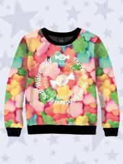 Свитшот для для девочки (водолазка, джемпер, свитер, реглан) из двухслойного трикотажа и футера с начесом 7530