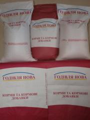 Polnoratsionny compound feeds for broilers