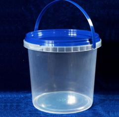 Container bucket circle of 1 l. Cans, flasks from