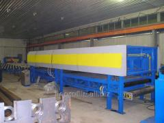 The line for production a sandwich panels