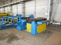 Line of longitudinal cutting of rolled steel