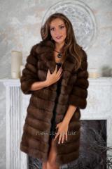 Fur coat a short fur coat from the Canadian sable