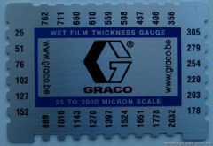 Feeler gage. Measuring instrument of thickness of
