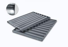 Baking tray 600 x 800 perf. 10 waves