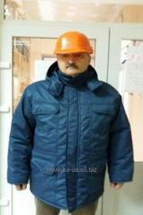 Куртка зимняя утепленная прямого силуэта