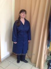 Dressing gown worker direct dark blue