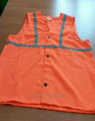 Vest alarm with light-reflective strips
