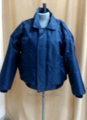 Куртка Пилот утепленная укороченного силуэта темно-синяя