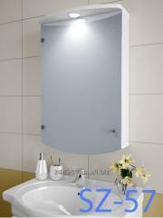 Hinged, mirror case for SZ-57 bathroom