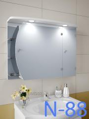 Hinged, mirror case for N-88 bathroom