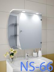 Hinged, mirror case for NS-66 bathroom