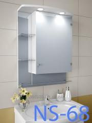 Навесной, зеркальный шкаф для ванной комнаты NS-68