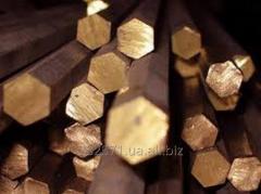 Copper bars hexagons
