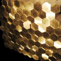 Brass bars hexagons