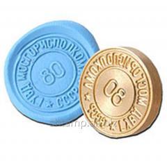 Печать для опечатывания под пластилин (резина)  диаметр 26 мм