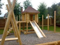Children's playgrounds from the rounded log
