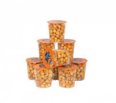 Ready karamelizirovanny popcorn in packing, 0.4l
