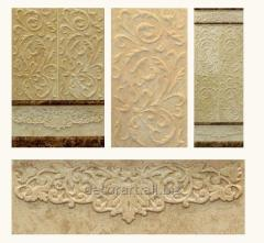 Decorative 3D marble panels for walls