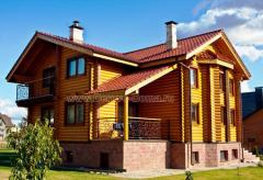 The wooden house for 200 sq.m