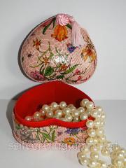 Розовая шкатулка для украшений 0013Ш