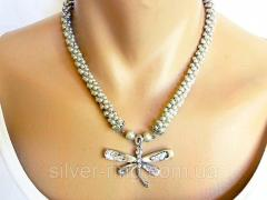 Author's Necklace with mother-of-Pearl Dragonfly
