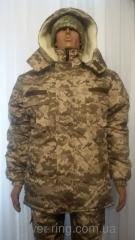 Army Jacket Winter + Warm winter pants. The size