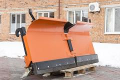 Dumps for snow for telescopic loaders