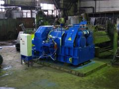 Roller press for production of briquettes from