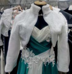 Fur wedding bolero.