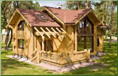 Wood framed houses