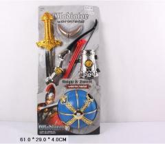 Рыцарский набор 6905, лук и стрелы, меч, латы, на планшетке: 61х29х4 см