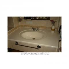 Столешница для ванной с влитой раковиной