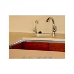 Countertops with pouring sinks