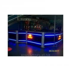 Glowing bar counter