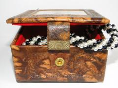 Шкатулка кожаная с папирусом 0038Ш