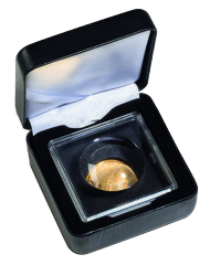 Leatherette Case for a coin in MAGNICAPS capsule