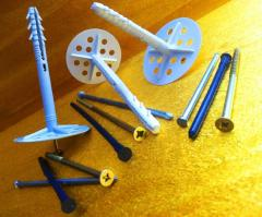 Expansion bolt shields for mineral wool, polyfoam,