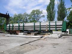 Стойки жб центрифугированные длиной26 м