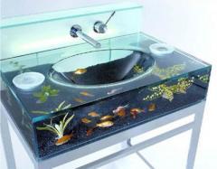 Wash basin glass, decorative
