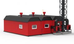 BMVKU modular water-heating boiler installation.
