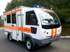 The car of ambulance type In the Electron