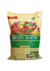 It is GENEROUS ЗЕМЛЯ® the Nutritious substratum;