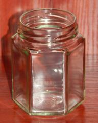 Glass jar of 196 ml with a mouth a twist of 58 mm
