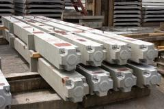 Columns reinforced concrete for industrial