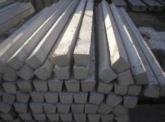 Las columnas de hormigón armado para las cercas