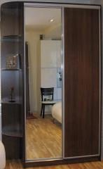 Sliding wardrobe Standard-3, two doors, mirror,