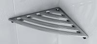 Angular shelf for a bathroom